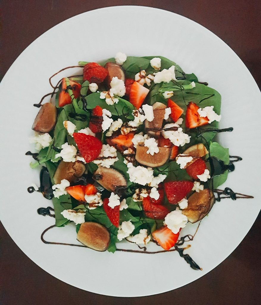 Balsamic Reduction on Salad