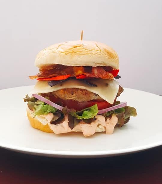 Southwest Turkey Burger with Bacon