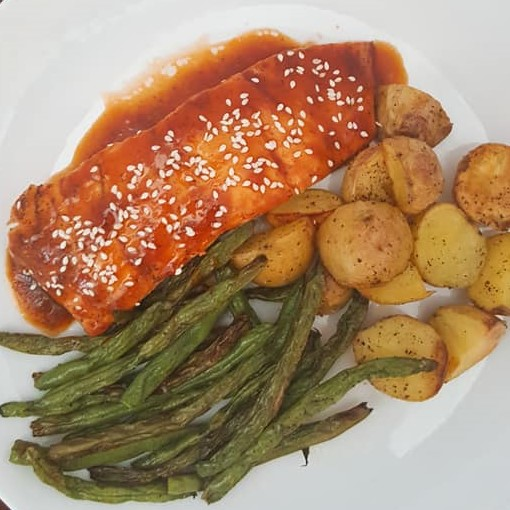 Root Beer Glazed Salmon